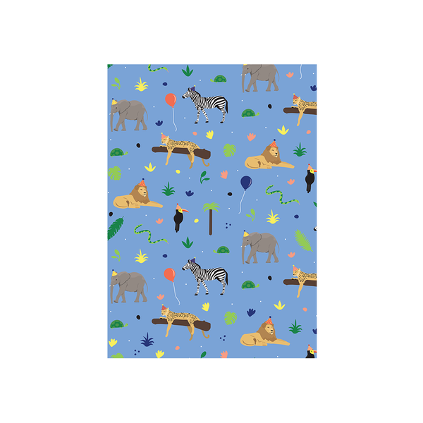 Iko Iko Animal Pattern Card Birthday Safari