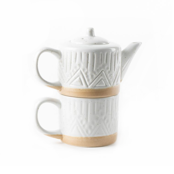 Speckle Teapot and Mug Set