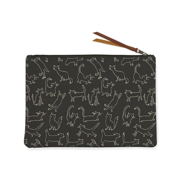 Pet Shop Funny Cat Canvas Pouch Medium