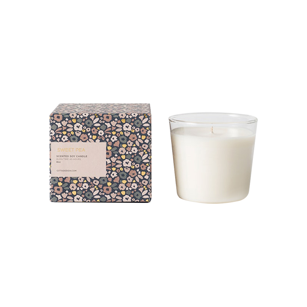 Citta Scented Soy Candle Sweet Pea