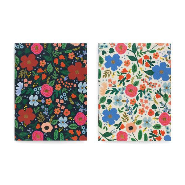 Rifle Paper Co Pack of 2 Notebooks Plain Pocket Wild Rose