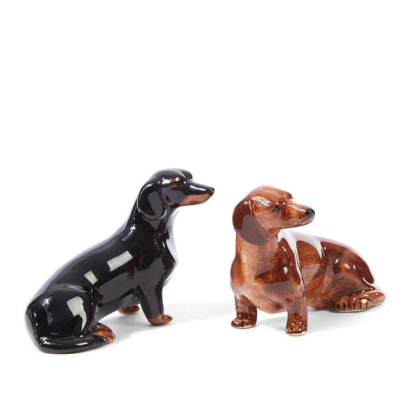 Quail Dachshund Salt and Pepper Shakers