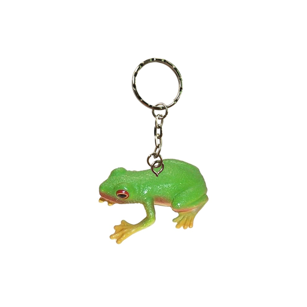 Red Eyed Green Frog Keychain