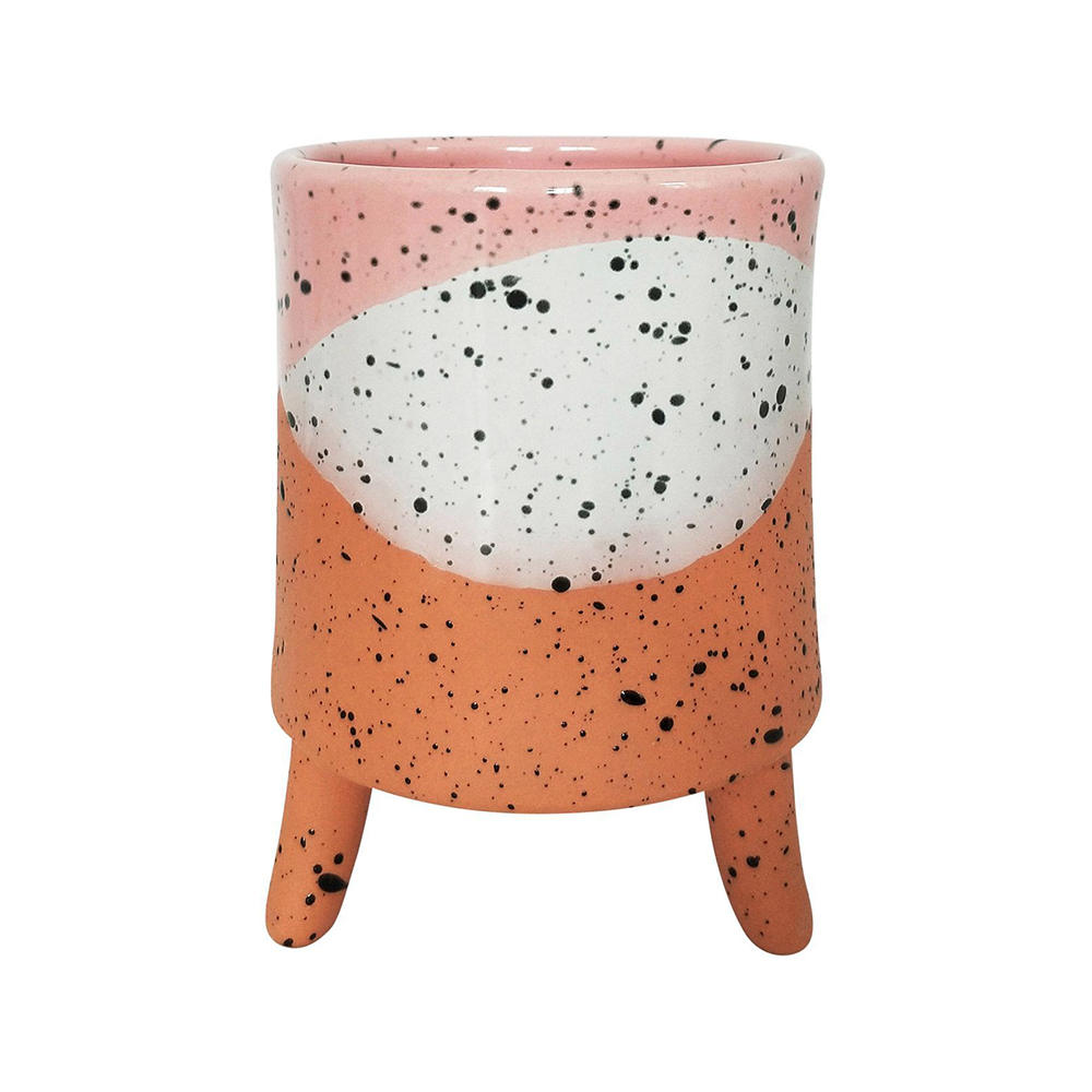 Cora Planter with Legs Pink Medium