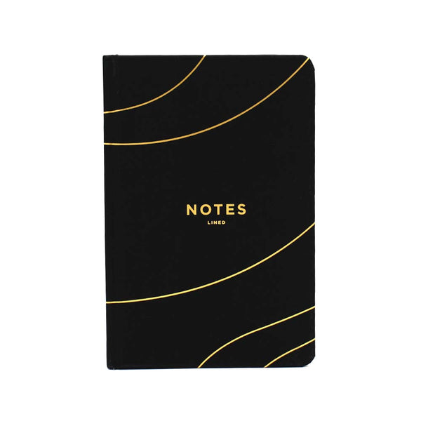 Frank A5 Hard Cover Lined Notebook Black