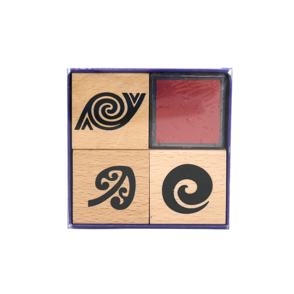 Maori Patterns Stamp and Inkpad Set