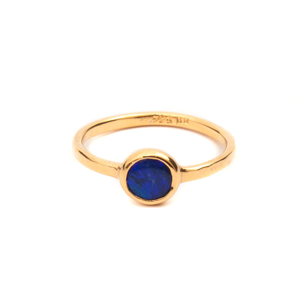 Kerry Rocks Solitaire Ring Opal Gold