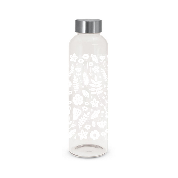 Iko Iko Flora Glass Bottle Wild Flowers White