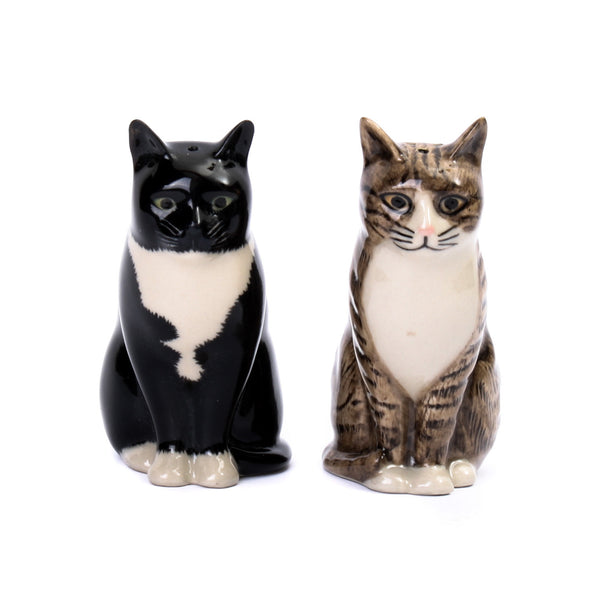 Quail Cat Millie and Julius Salt and Pepper Shakers