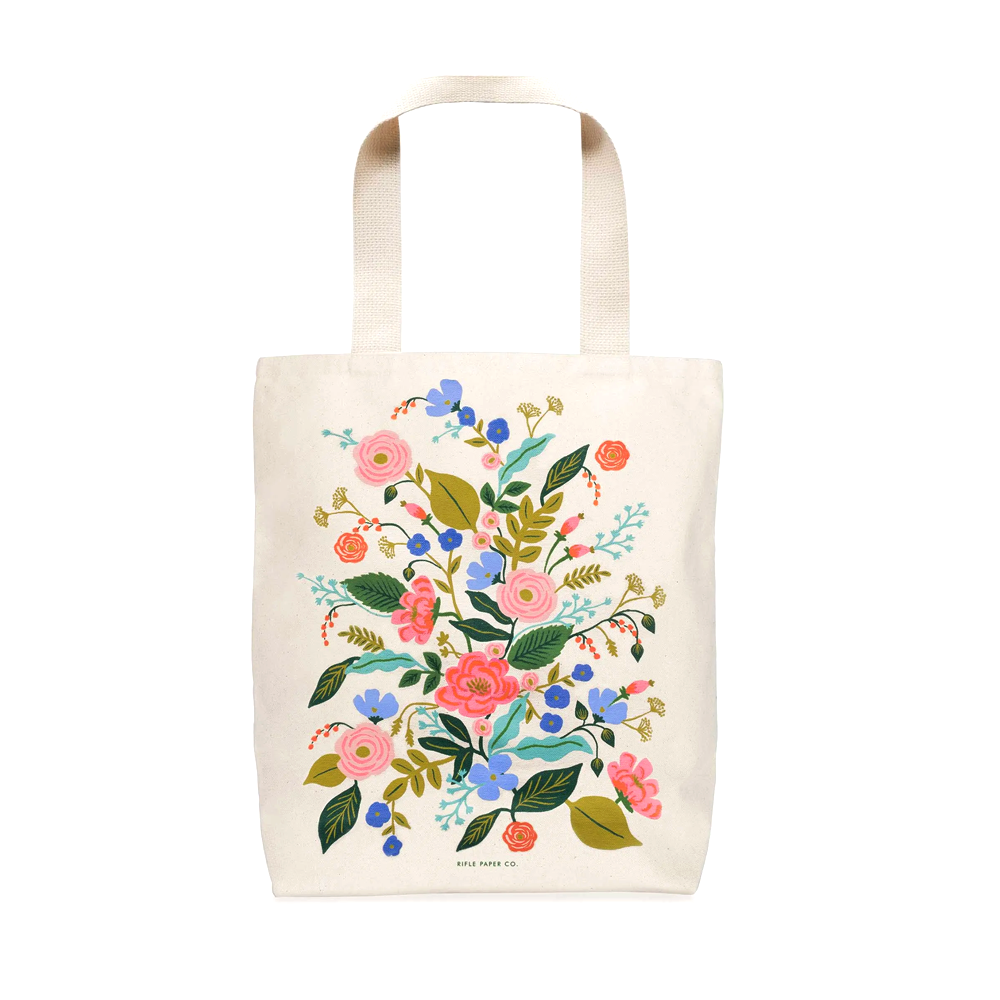 Rifle Paper Co Tote Bag Floral Vines