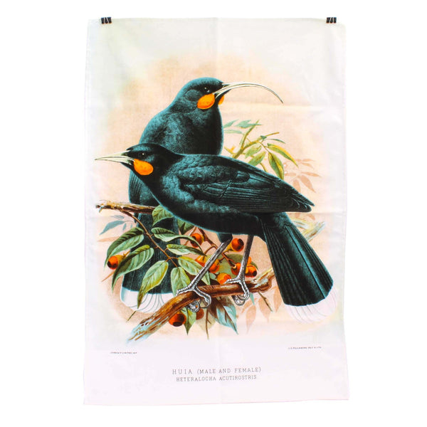 New Zealand Retro Tea Towel Huia