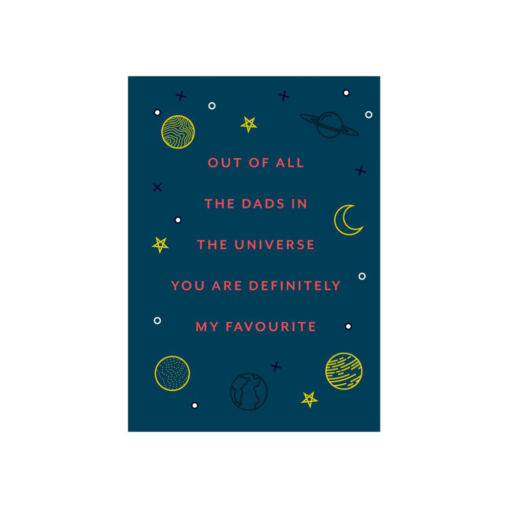 Iko Iko Patterned Card Dads in the Universe