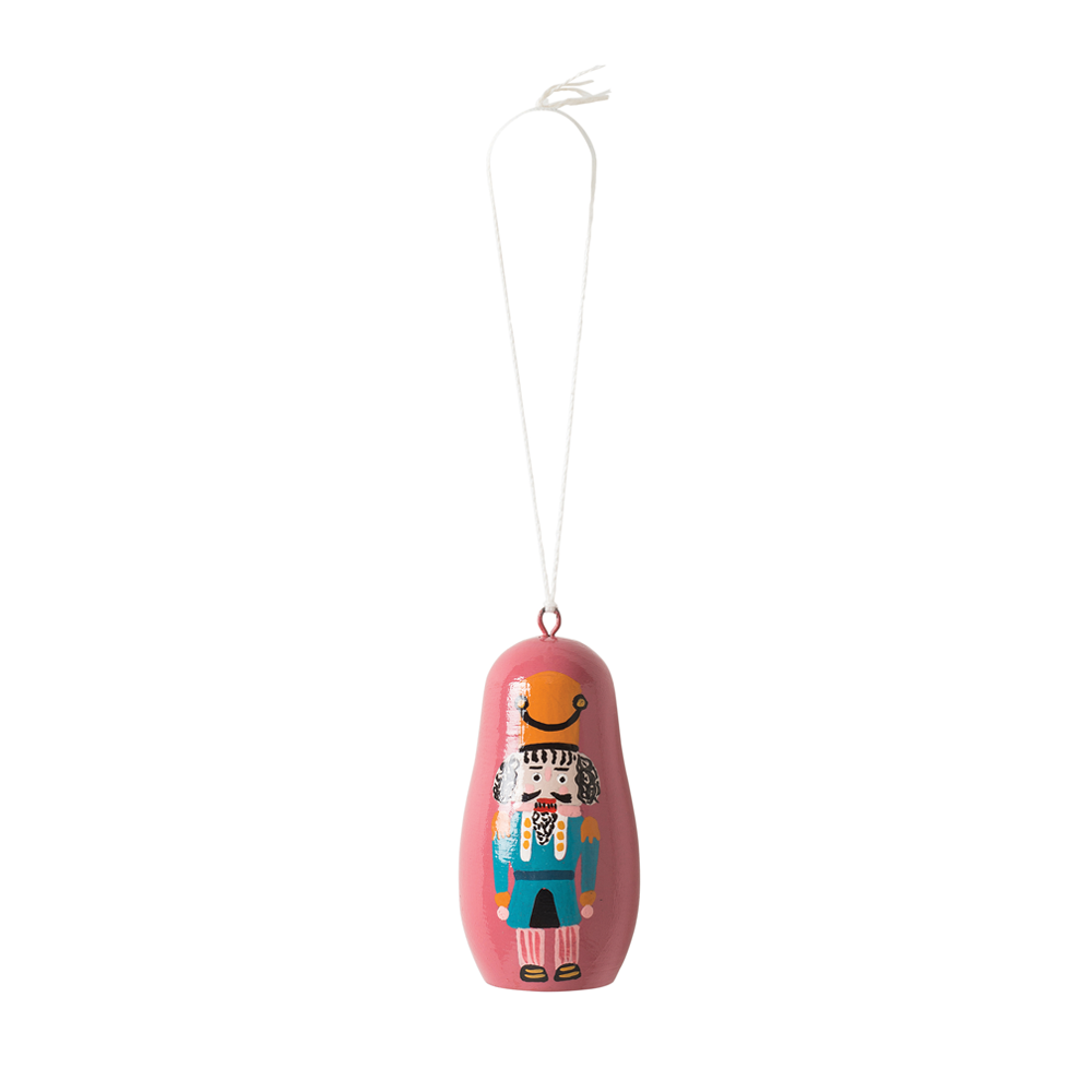 Citta Hand-Painted Nutcracker Hanging Decoration Pink