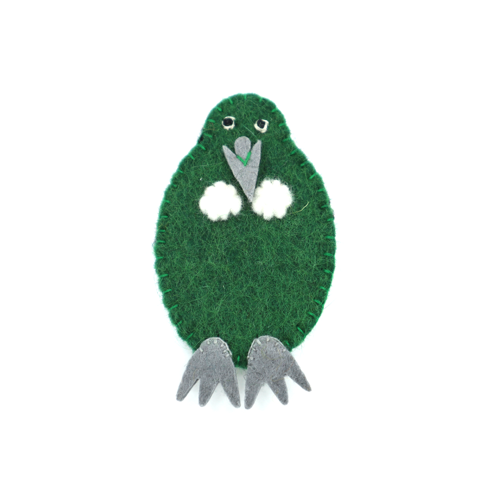 Woolen Native Bird Finger Puppet Tui