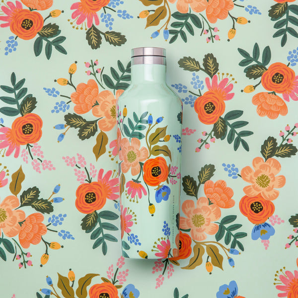 Corkcicle x Rifle Paper Co. Canteen Drink Bottle 16oz Lively Floral
