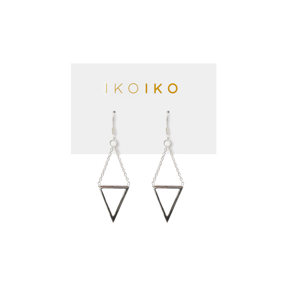 Iko Iko Earrings Triangle on Chain