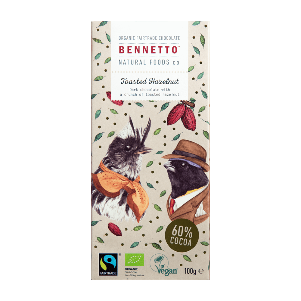 Bennetto Chocolate Toasted Hazelnut 100g