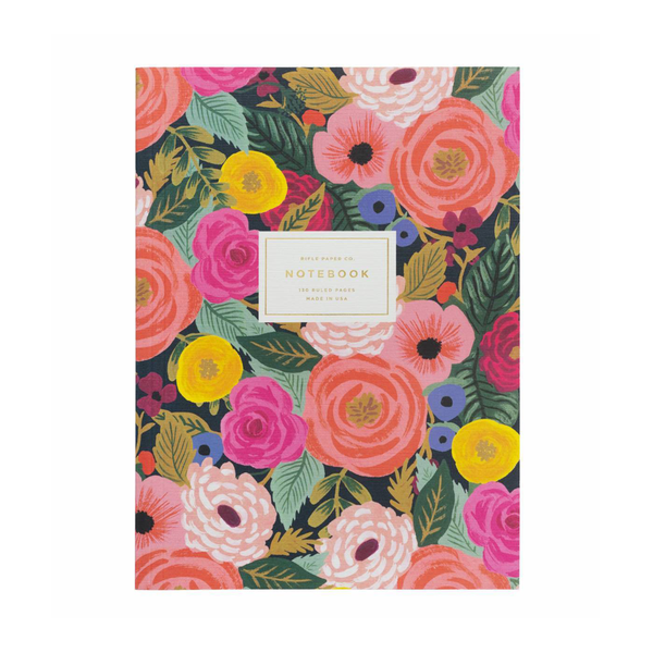 Rifle Paper Co. Memoir Notebook Ruled Large Juliet Rose
