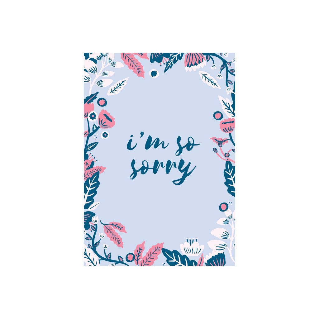 Iko Iko Floral Message Card Sorry