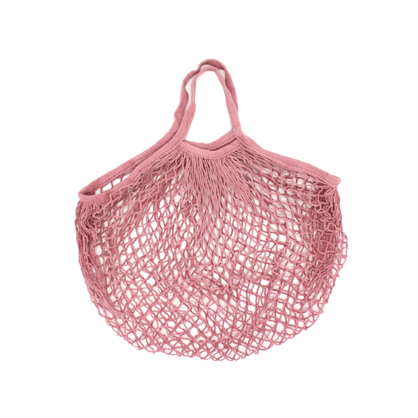 Iko Iko String Cotton Shopping Bag Dusty Pink