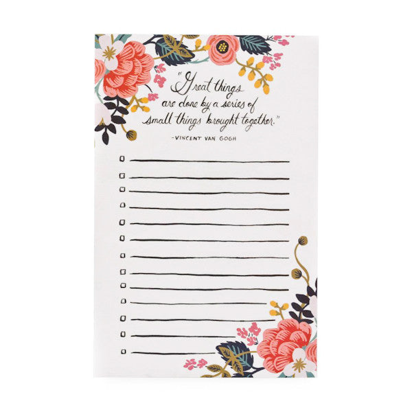 Rifle Paper Co Notepad Great Things