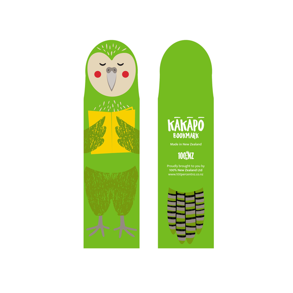 100% NZ Cuties Bookmark Kakapo