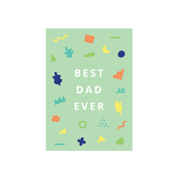 Iko Iko Patterned Card Best Dad Ever