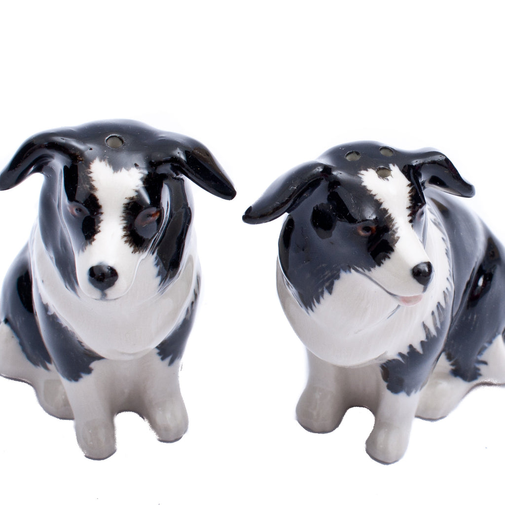 Quail Border Collie Salt and Pepper Shakers