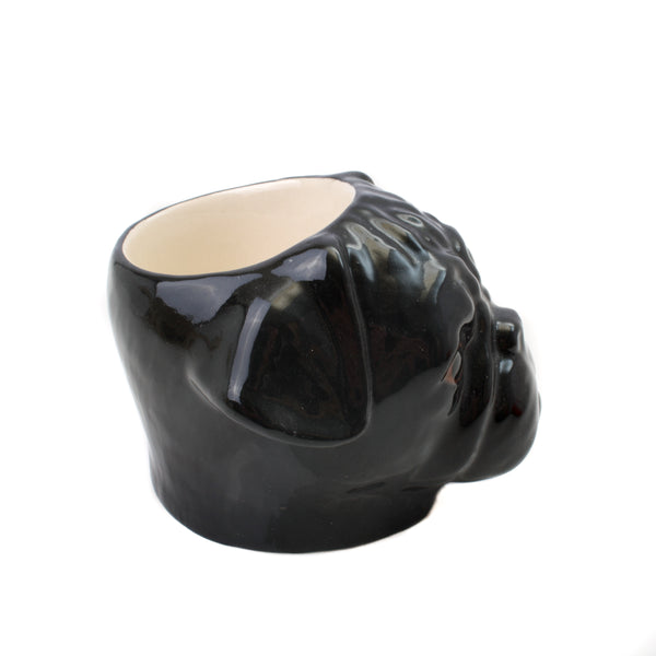 Quail Black Pug Face Egg Cup