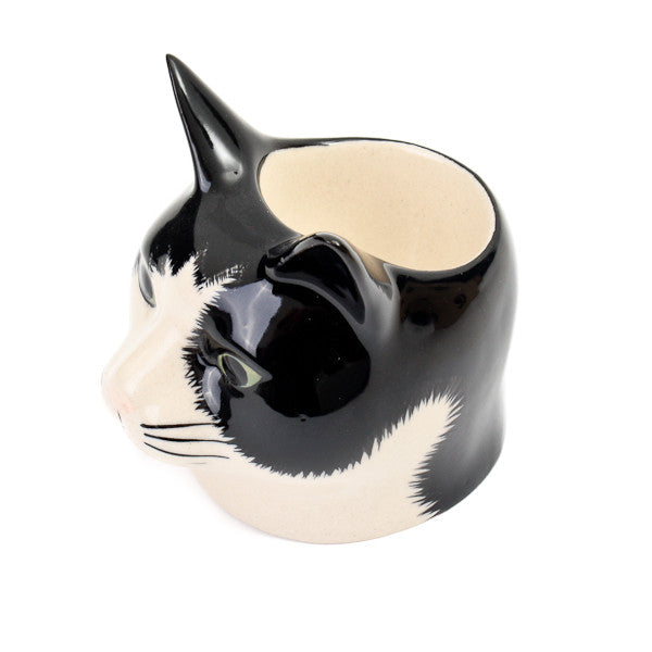 Quail Barney Cat Face Egg Cup
