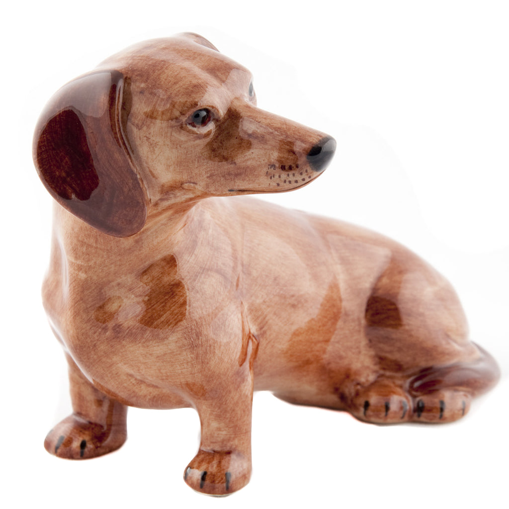Quail Dachshund Money Box Red