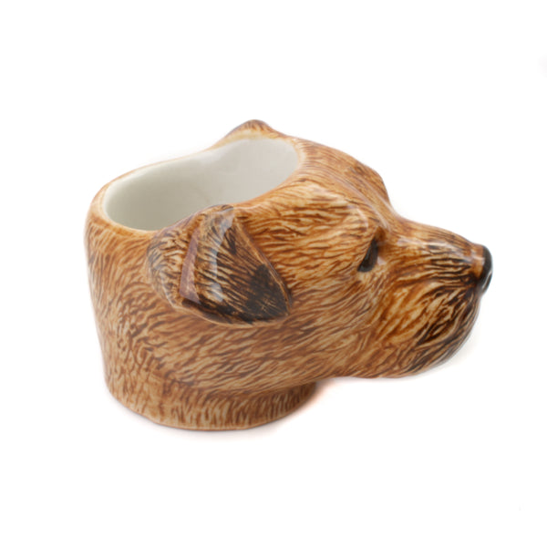 Quail Border Terrier Face Egg Cup