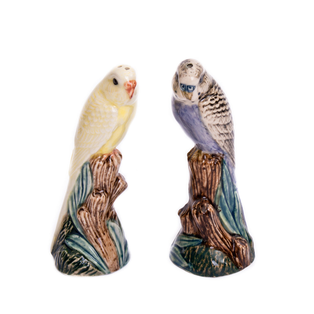 Quail Budgerigar Violet & Yellow Salt & Pepper Shaker