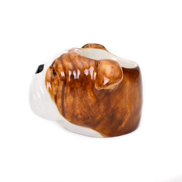 Quail English Bulldog Face Egg Cup
