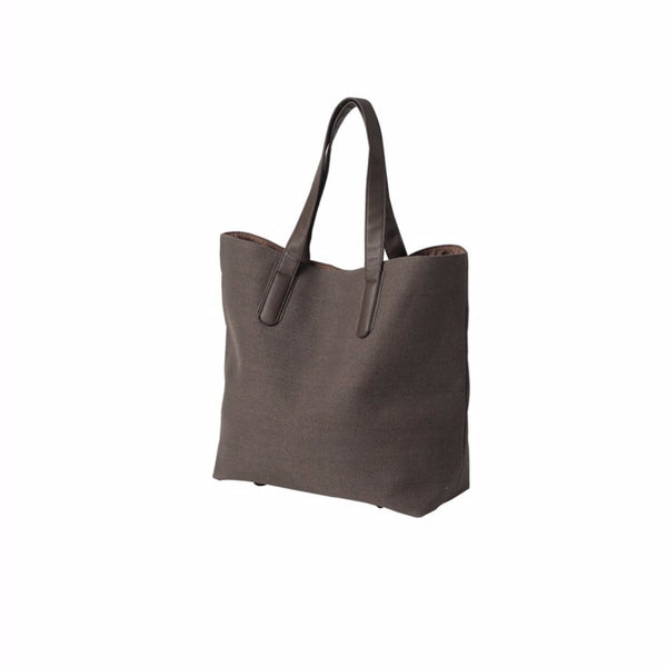 Citta Canvas Shopping Bag Brown