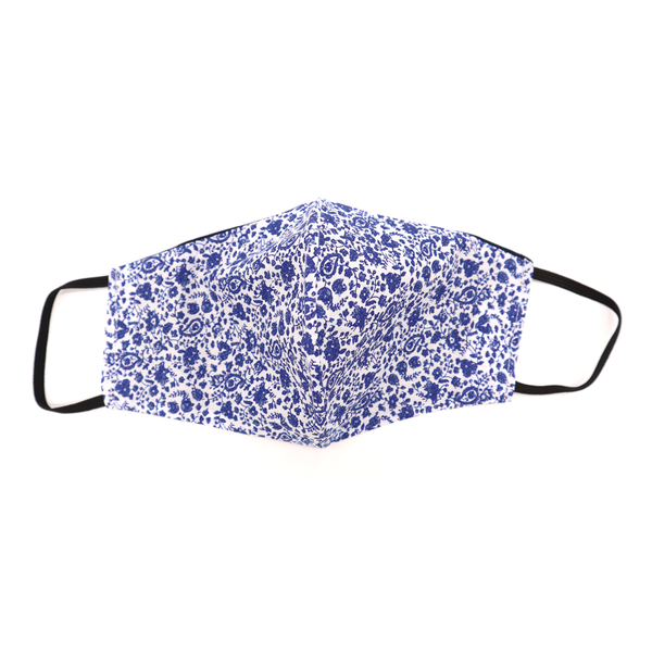 Melon Masks Womens Mask Medium Blue Paisley
