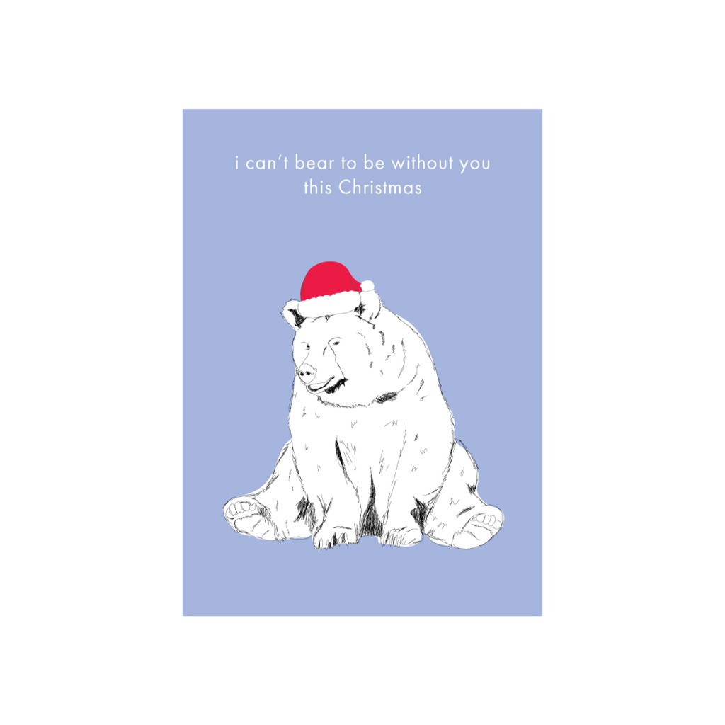 Iko Iko Christmas Card Bear