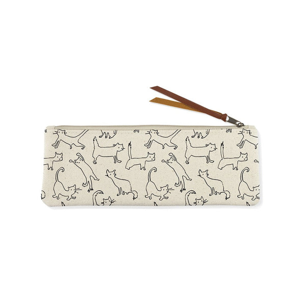 Pet Shop Funny Cat Canvas Pouch Small
