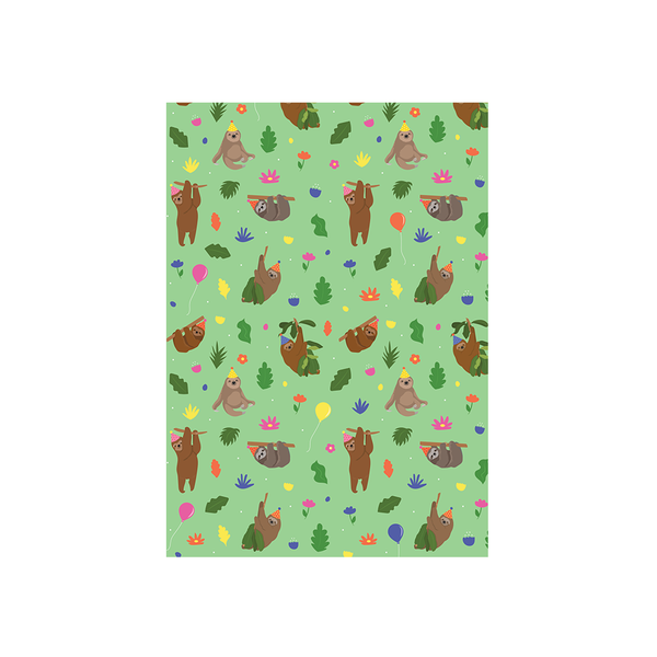 Iko Iko Animal Pattern Card Birthday Sloth