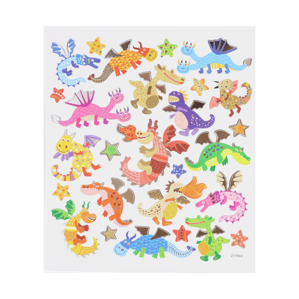 Colourful Dragon Stickers