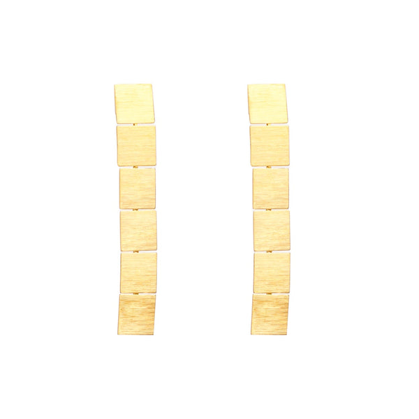 Stella + Gemma Earrings Box Drop Gold