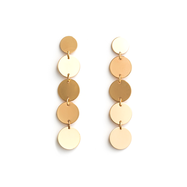 Stella + Gemma Earrings Gold Discs