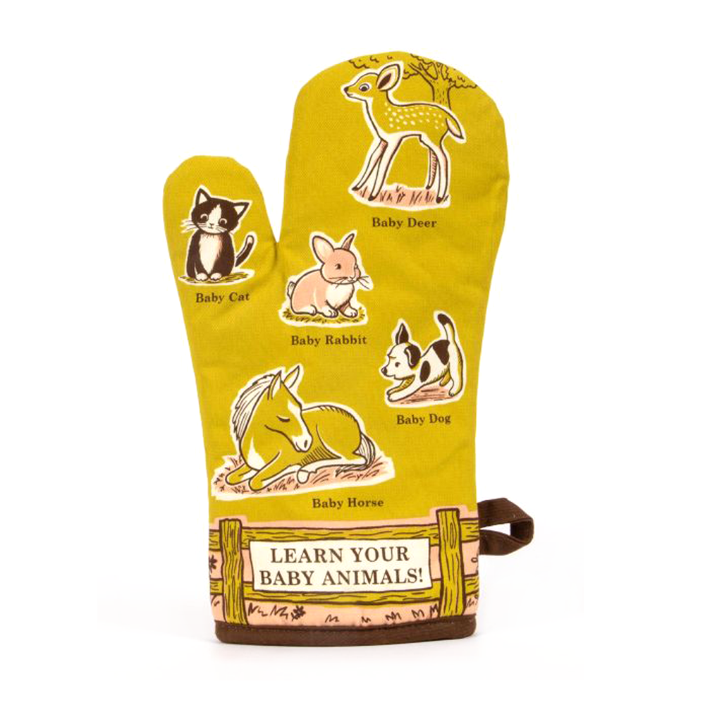 Blue Q Oven Mitt Baby Animals
