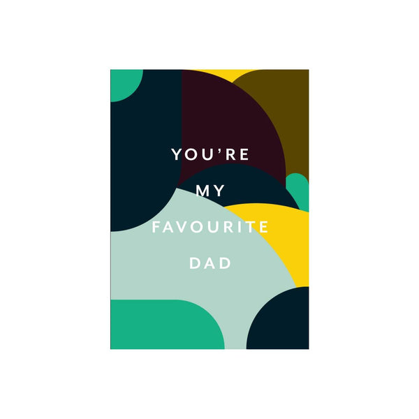 Iko Iko Patterned Card Favourite Dad