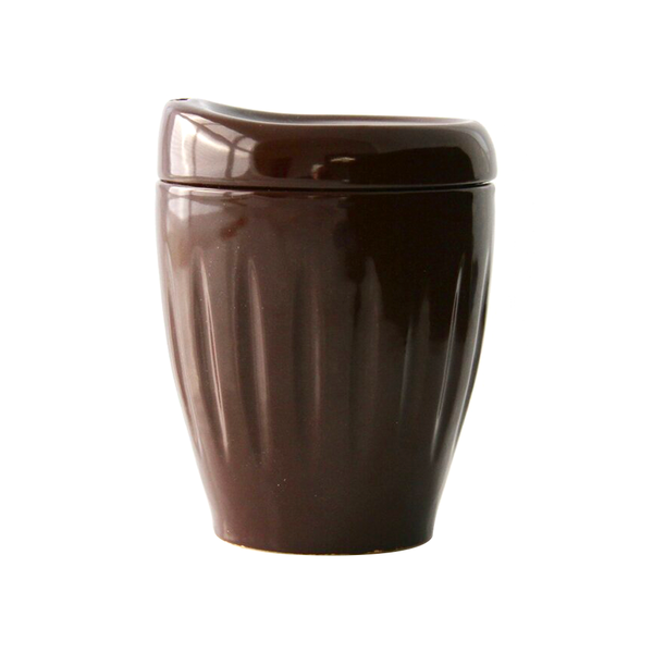 Lyttelton Pottery Deksel Reuseable Cup Insulator Brown