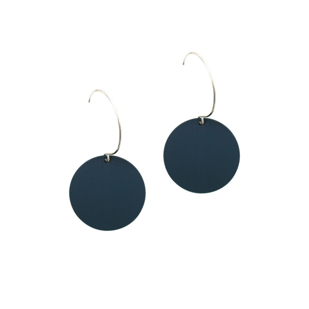 Penny Foggo Earrings Small Spot Navy