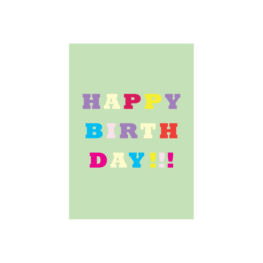 Iko Iko Colour Text Card Happy Birthday