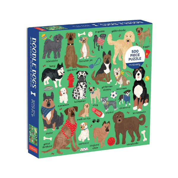 Mudpuppy 500 Piece Puzzle Doodle Dogs and Other Mixed Breeds