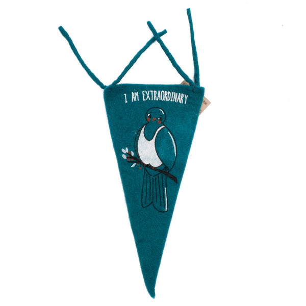 Misery Guts Club Flag I am Extraordinary Teal