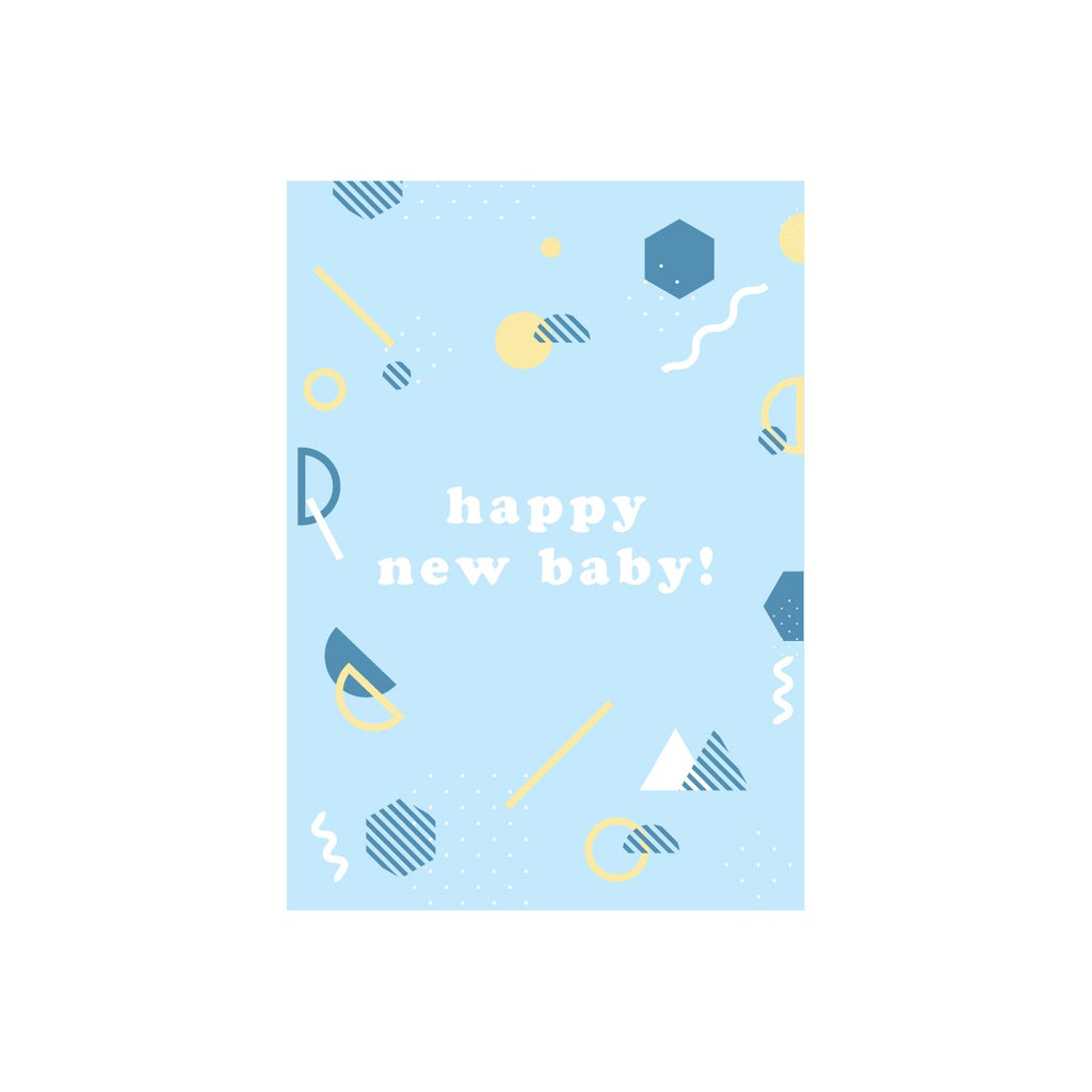 Iko Iko Patterned Text Card Baby Blue